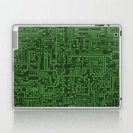 Circuit Board // Light on Dark Green Laptop & iPad Skin