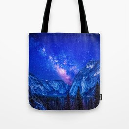 Milky Way Over Mountain Tote Bag