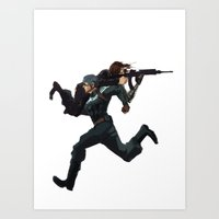 stucky Art Prints featuring Dammit Steve by MMCoconut