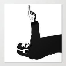 Kittappa Series #1 - Shooter (no ink splatter-original) Canvas Print