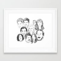 parks and recreation Framed Art Prints featuring Parks and Recreation 'Rec a Sketch' by Moremeknow