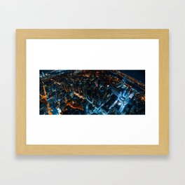 Bleeding Blue and Orange Framed Art Print