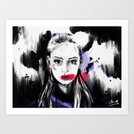 A change of colors. Art Print