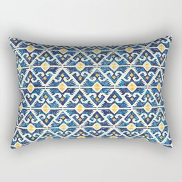 Thunderbird Kilim Watercolor Rectangular Pillow