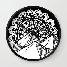 Mountain Mandala Wall Clock