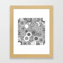 circles-grey Framed Art Print