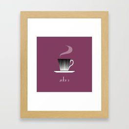 Zebra. Burgundy Framed Art Print
