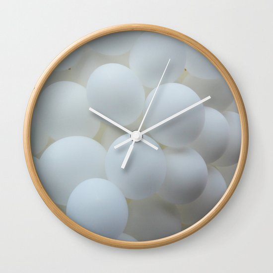 white balloons Wall Clock