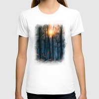 shining T-shirts featuring Red feather dance  (colour option) by Viviana Gonzalez