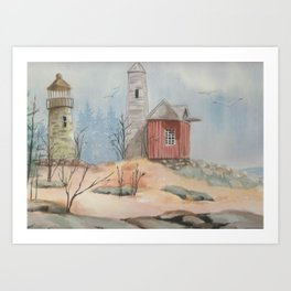 By the Seashore Art Print