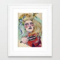 devil Framed Art Prints featuring Devil. by Izuru  Kumo