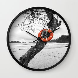 Nautical Island Lifesaver Wall Clock