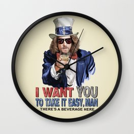 Uncle Dude Wall Clock