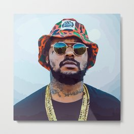 SBQ - Schoolboy Q Watercolor Metal Print