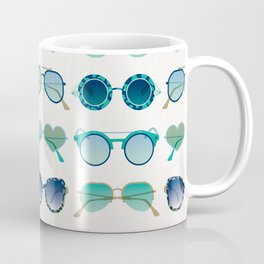 Sunglasses Collection – Turquoise & Navy Palette Coffee Mug