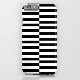 INTERLACED (BLACK-WHITE) iPhone Case