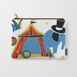 Circus Fun white Carry-All Pouch