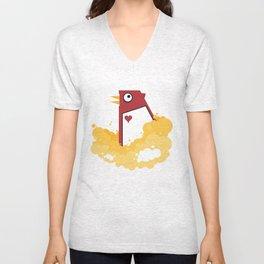Big Chicken Unisex V-Neck