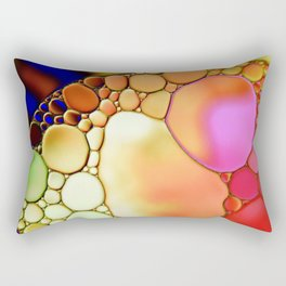 """""""Stained Glass Orbs"""" - Oil and Water Rectangular Pillow"""