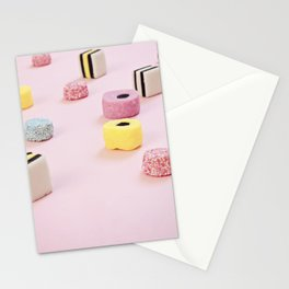 Abstract Colored Chewy Candies Stationery Cards