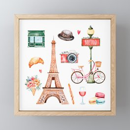 Welcome To Paris Framed Mini Art Print