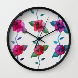 Vibrant Roses Wall Clock