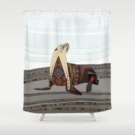 sea lion mono Shower Curtain