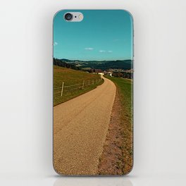 Country road into some autumn scenery | landscape photography iPhone Skin