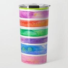 Bright Stripes Travel Mug