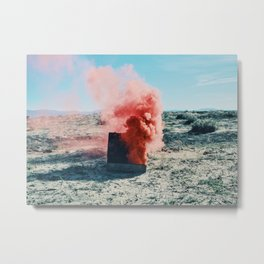 Torch with Pink Smoke Metal Print