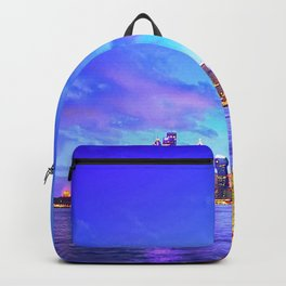 Famous Sydney City Harbour Bridge At Romantic Evening Red Opera House Australia Ultra HD Backpack