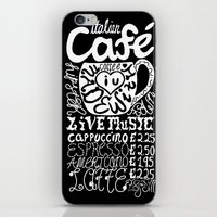italian iPhone & iPod Skins featuring Italian Cafe by Geryes