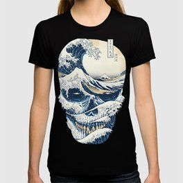 The Great Wave Off Skull Japanese Style T-shirt