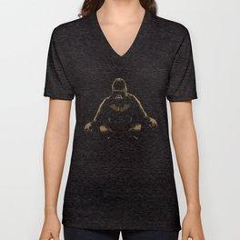 Ape Meditating Unisex V-Neck
