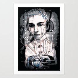 Notes from Interstellar Voyage Aquaria 51 Found in Abandoned Machinery Art Print