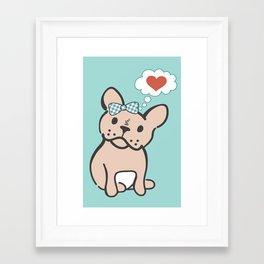 French Bulldog Love Framed Art Print