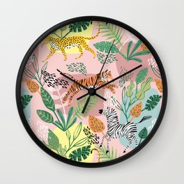 Jungle Fun Wall Clock