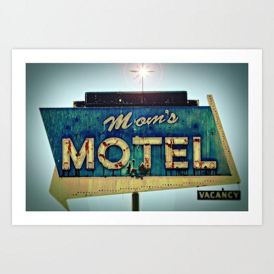 Mom's Motel Art Print