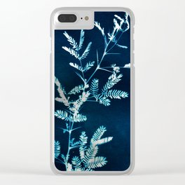 Blue gazes from the cat windows Clear iPhone Case