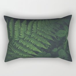 Dark and beautiful Fern in the Forest Rectangular Pillow