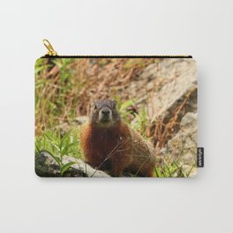 Marmot On A Rock Carry-All Pouch