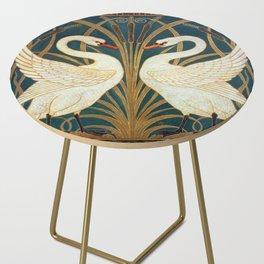 Walter Crane Swan, Rush And Iris Side Table