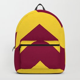 Sunnydale High Chevron (Maroon & Gold - #8A0034 x #FFDC32) Backpack
