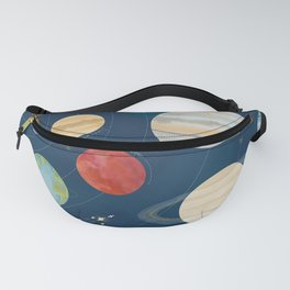 Colorful Watercolor Solar System Fanny Pack