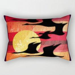 Sunset Migration Rectangular Pillow