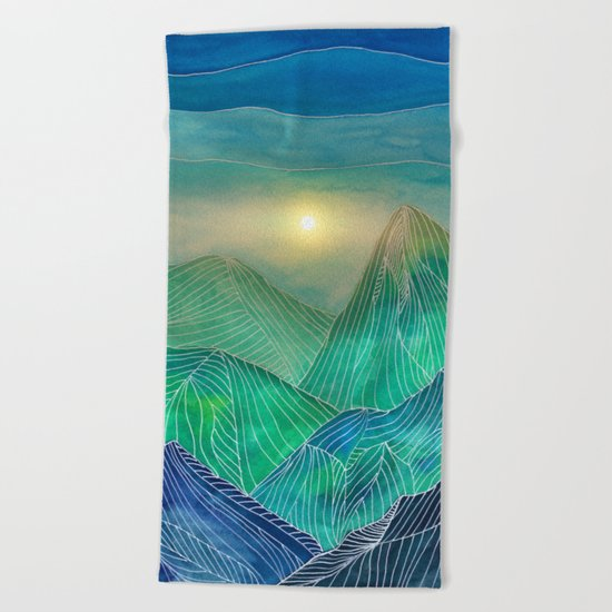Lines in the mountains V Beach Towel