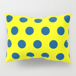 maize and blue polka dots Pillow Sham