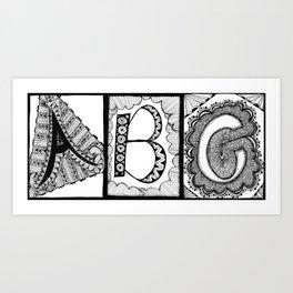 A, B, C Art Print