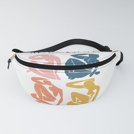 Abstract woman pastel color matisse woman artwork the cut outs Fanny Pack
