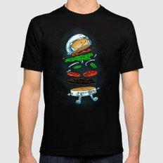 The Astronaut Burger MEDIUM Mens Fitted Tee Black
